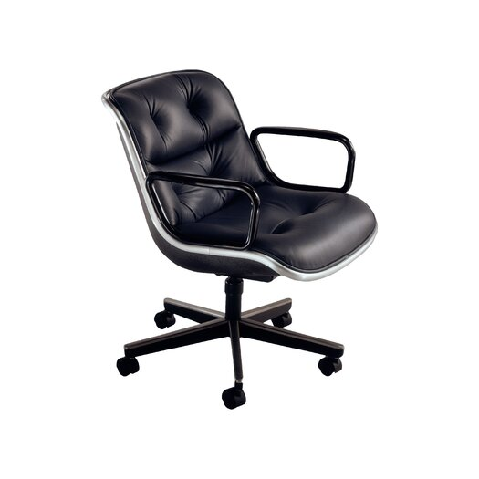 Knoll ® Pollock Leather Conference Armchair