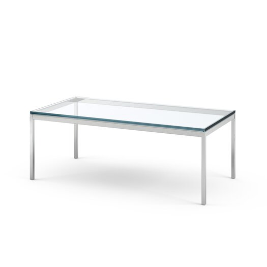 Florence Knoll Rectangular Coffee Table in Polished Chrome