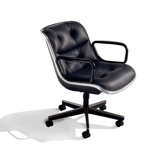Pollock Leather Conference Armchair