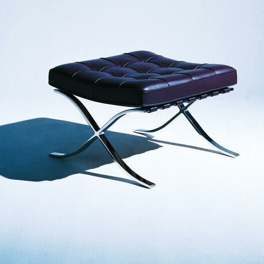 Knoll ® Barcelona Ottoman in Stainless Steel