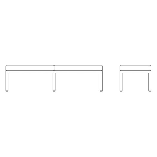 Knoll ® Florence Knoll Two Seat Bench