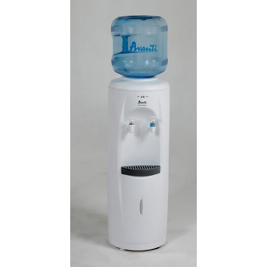 Avanti Products Water Dispenser Top Loading Hot, Cold, and Room Temperature Free-Standing Water Cooler in White