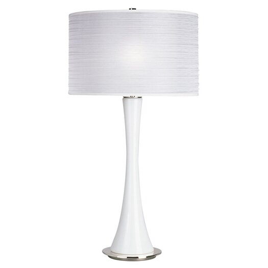 """Robert Abbey Kate Large 34.75"""" H Table Lamp with Drum Shade"""
