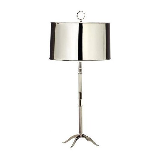 "Robert Abbey Porter 33.14"" H Table Lamp with Drum Shade"
