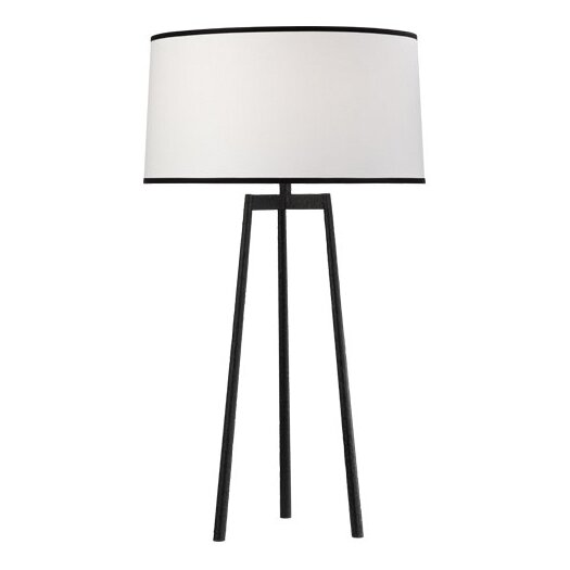 """Robert Abbey Shinto Tripod 32.25"""" H Table Lamp with Drum Shade"""