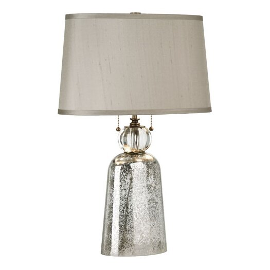 """Robert Abbey Gossamer 24.5"""" H Table Lamp with Oval Shade"""