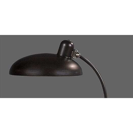 """Robert Abbey Bruno """"C"""" 18.25"""" H Table Lamp with Bowl Shade"""