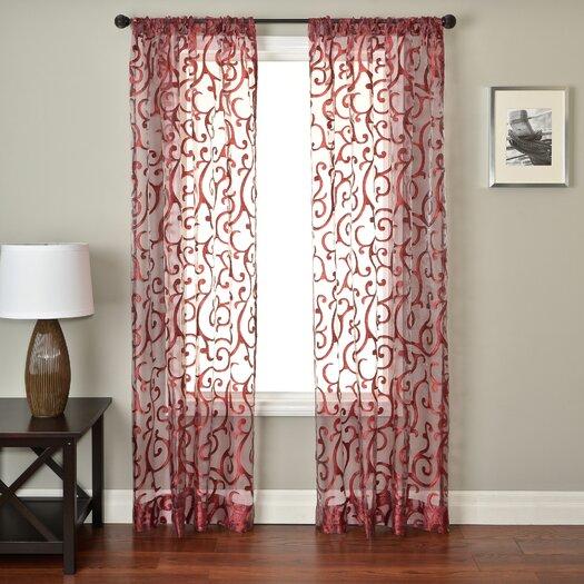 Softline Home Fashions Abel Rod Pocket Single Curtain Panel