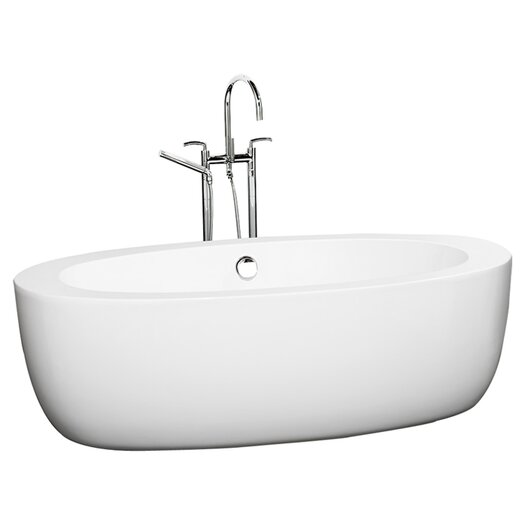 "Wyndham Collection UVA 69"" x 33"" Soaking Bathtub"