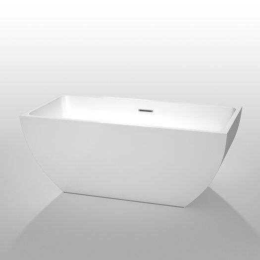 """Wyndham Collection Rachel 59"""" x 29.5"""" Soaking Bathtub"""