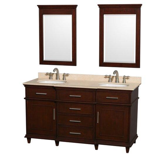 Wyndham Collection Berkeley Double Vanity Set