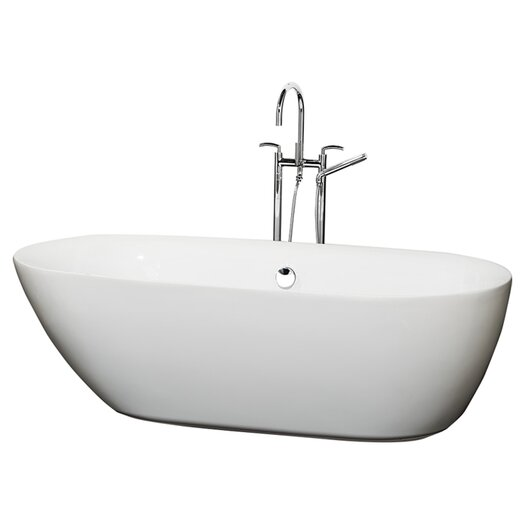 "Wyndham Collection Melissa 71"" x 33"" Soaking Bathtub"