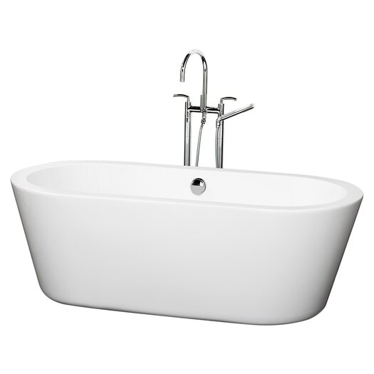 "Wyndham Collection Mermaid 67"" x 32"" Soaking Bathtub"