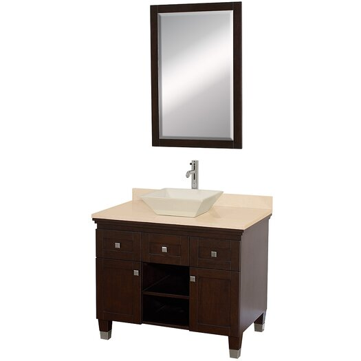 "Wyndham Collection Premiere 36"" Single Bathroom Vanity Set with Mirror"