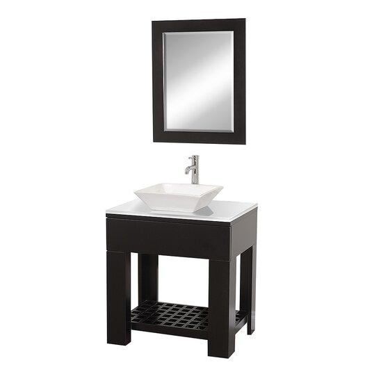 "Wyndham Collection Zen II 30"" Single Bathroom Vanity Set with Mirror"
