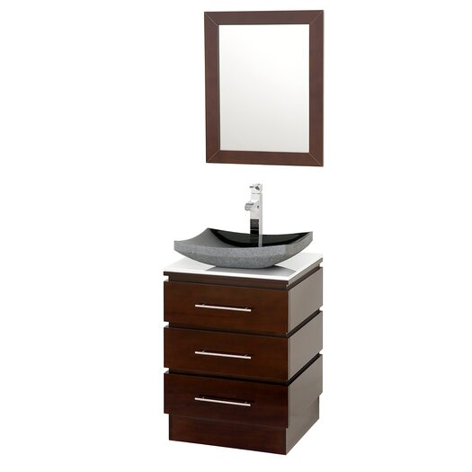 "Wyndham Collection Rioni 22"" Single Bathroom Vanity Set with Mirror"