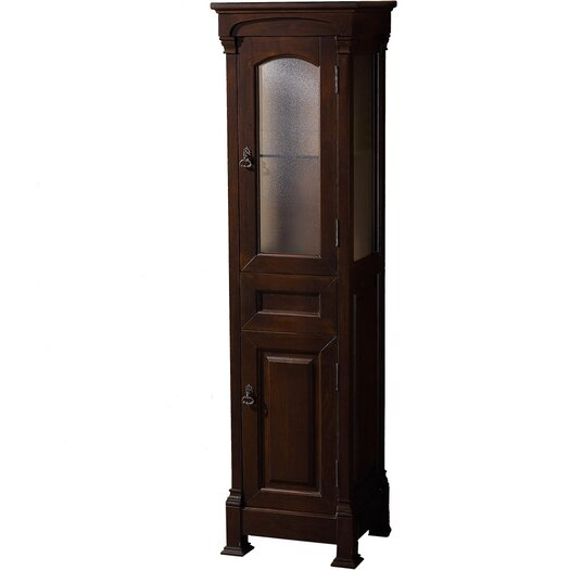 """Wyndham Collection Andover 18"""" x 65.125"""" Free Standing Linen Tower"""