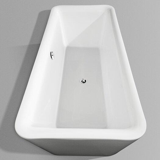 """Wyndham Collection Emily 69"""" x 31"""" Soaking Bathtub"""