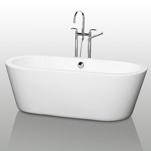 """Wyndham Collection Mermaid 71"""" x 34"""" Soaking Bathtub"""