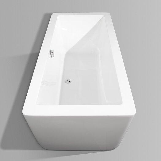 """Wyndham Collection Laura 67"""" x 30"""" Soaking Bathtub"""