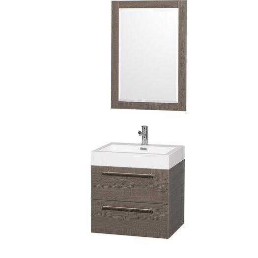 "Wyndham Collection Amare 24"" Single Bathroom Vanity Set with Mirror"