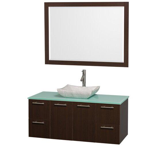 "Wyndham Collection Amare 48"" Single Bathroom Vanity Set with Mirror"