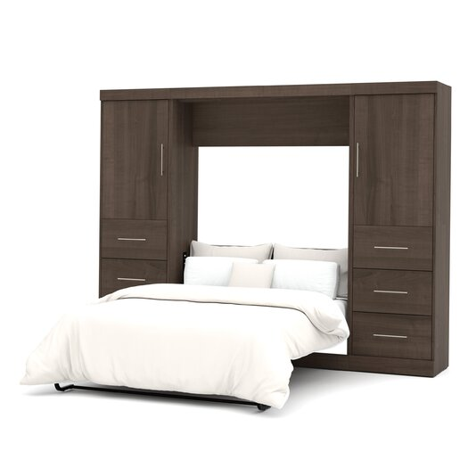bestar nebula full storage wall bed allmodern. Black Bedroom Furniture Sets. Home Design Ideas