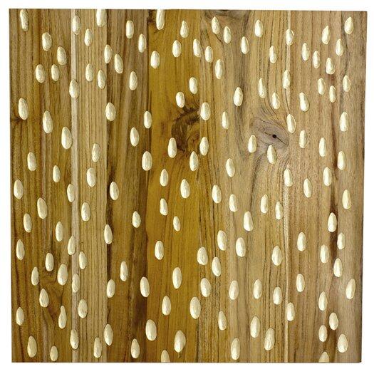 RS Furnishings Pura Vida I Rain Drop Graphic Art Plaque in Natural