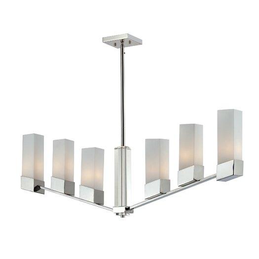 Z-Lite Zen 6 light Kitchen Pendant Lighting