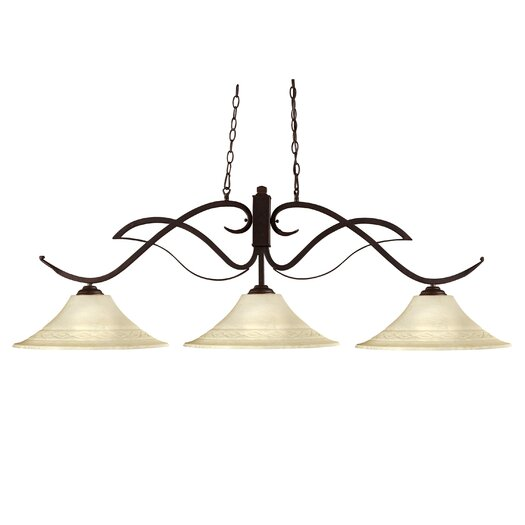 Z-Lite Phoenix 3 Light Kitchen Island Pendant