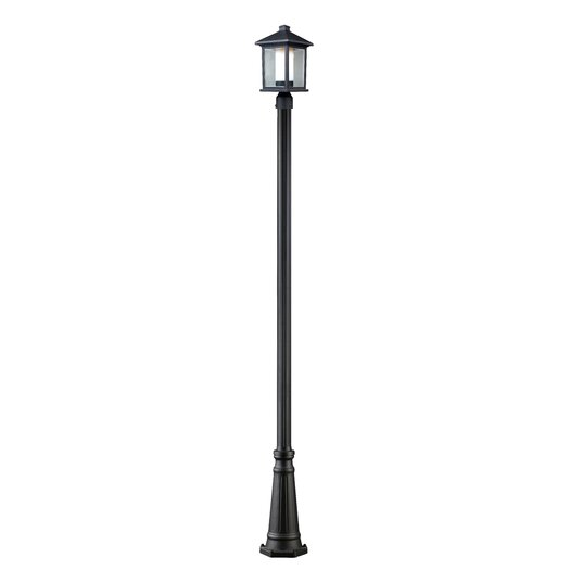 Z-Lite Mesa 1 Light Aluminum Outdoor Post Lantern Set