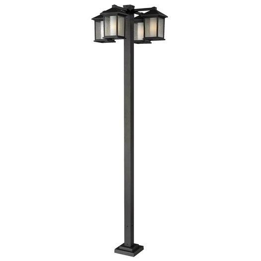 """Z-Lite Mesa 4 Light 99"""" Post Lantern Set"""