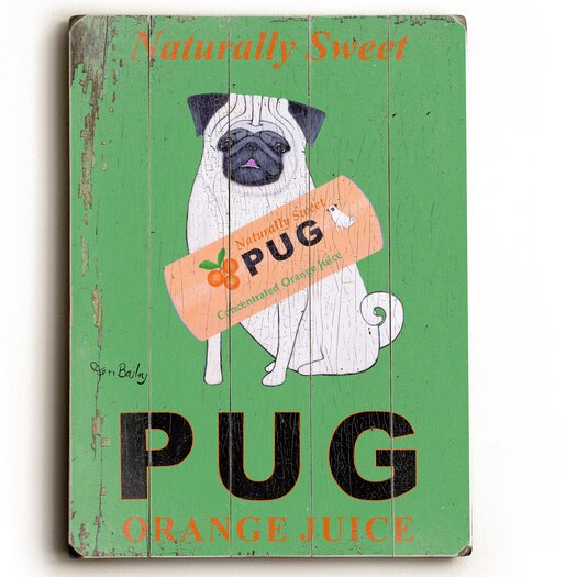 Artehouse LLC Pug by Ken Bailey Vintage Advertisement Plaque