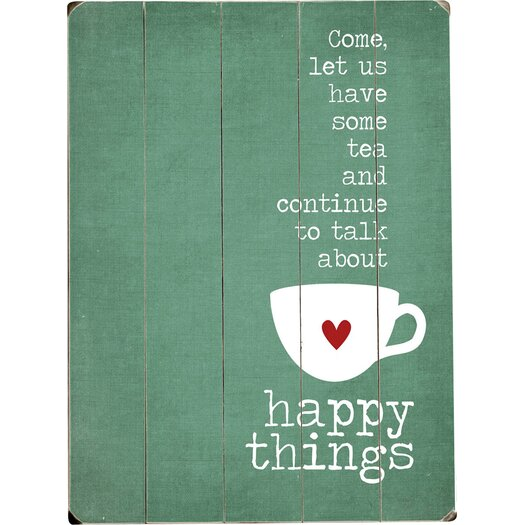 Artehouse LLC Happy Things by Cheryl Overton Textual Art Plaque