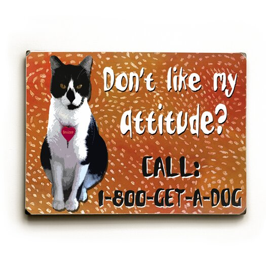 Artehouse LLC Attitude? Textual Art Plaque