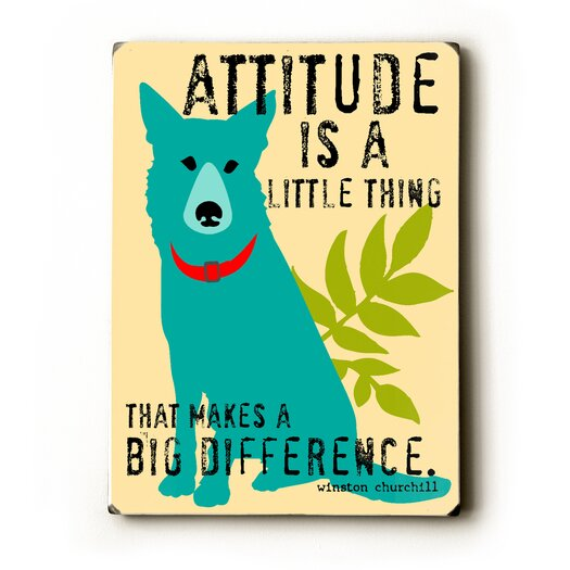 Artehouse LLC Attitude is a Little Thing Textual Art Plaque