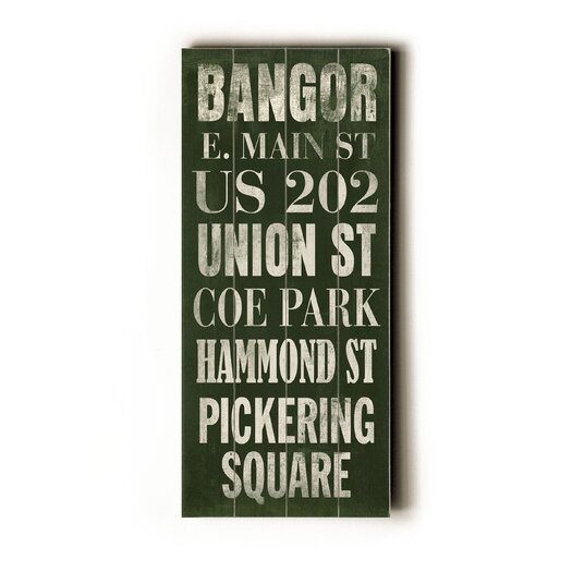 Artehouse LLC Bangor Transit by Cory Steffen Textual Art Plaque