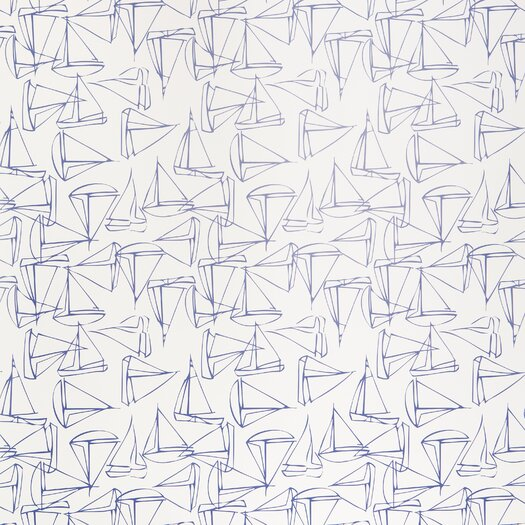 Kimberly Lewis Home Set Sail 15' x 27'' Abstract Wallpaper