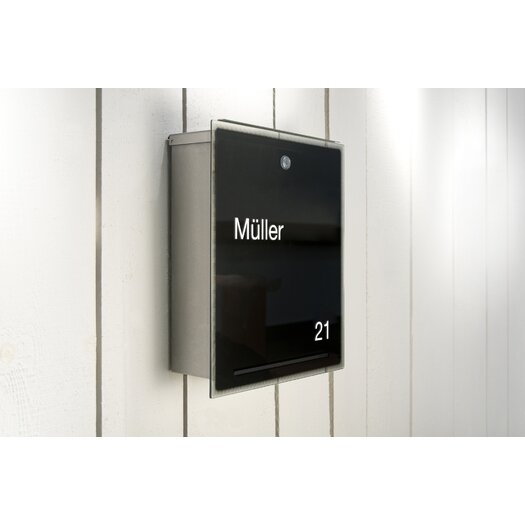 Radius Design Letterman Wall Mounted Mailbox with Outgoing Mail