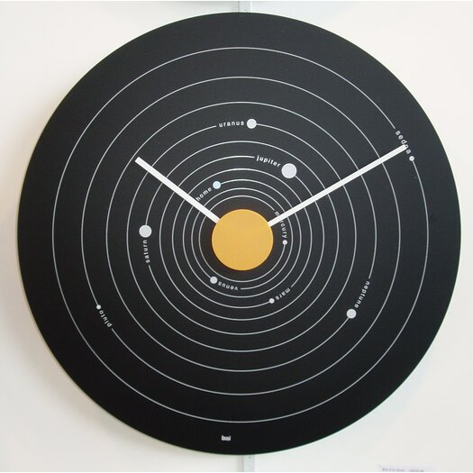 "Bai Design 15"" Solar System Exposé Modern Wall Clock"