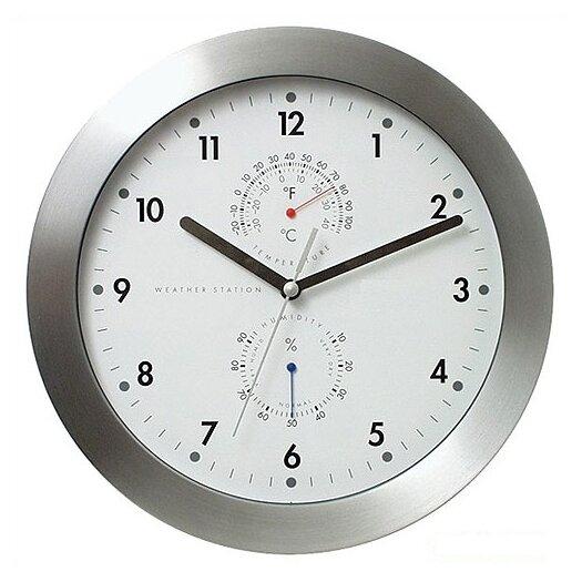 "Bai Design 11"" Weather Master Weather Station Modern Wall Clock"