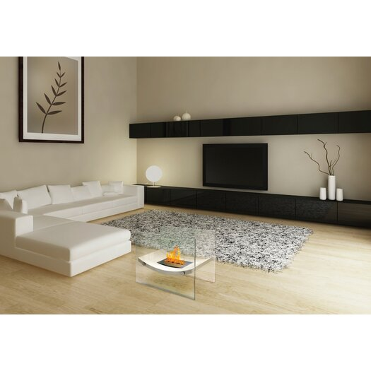 Anywhere Fireplaces Glass Bio-Ethanol Fire Pit Table