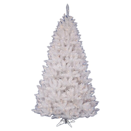 Vickerman Co. Crystal White Spruce 5.5' Artificial Christmas Tree with 450 Clear Lights with Stand