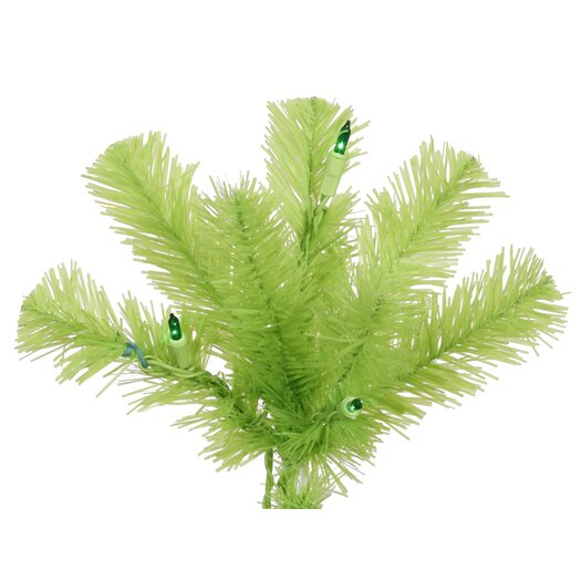 Vickerman Co. Chartreuse Pencil 6.5' Green Artificial Christmas Tree with 300 Green Lights