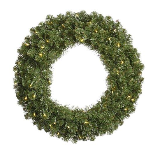 Vickerman Co. Grand Teton Wreath with 100 Dura-Lit Lights