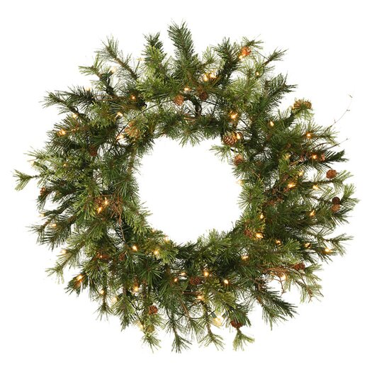 Vickerman Co. Prelit Country Pine Wreath