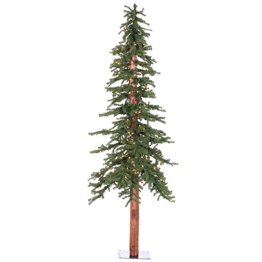 Vickerman Co. 7' Natural Alpine Green Artificial Christmas Tree with 300 Clear Lights