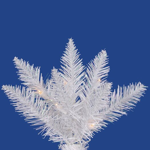 Vickerman Co. Crystal White Spruce 9.5' Artificial Christmas Tree with 720 LED White Lights with Stand