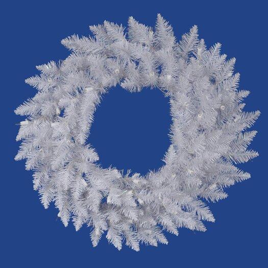 Vickerman Crystal White Spruce Wreath