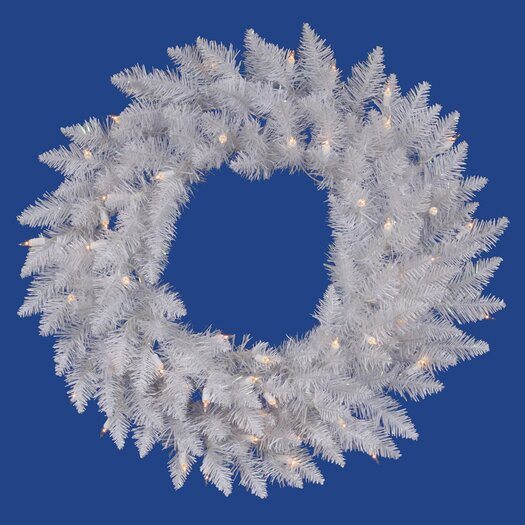 Vickerman Co. Crystal White Spruce Wreath